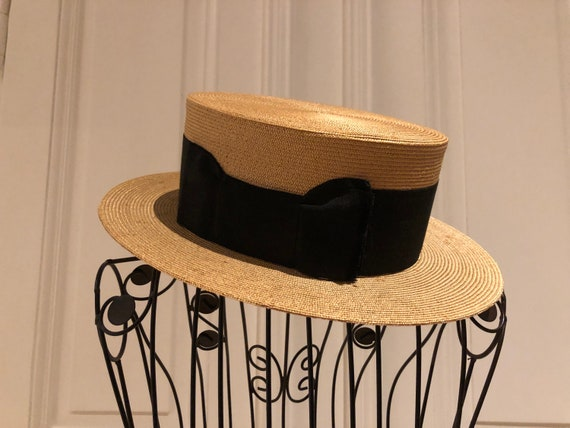 Original edwardian boater straw hat perfect condit