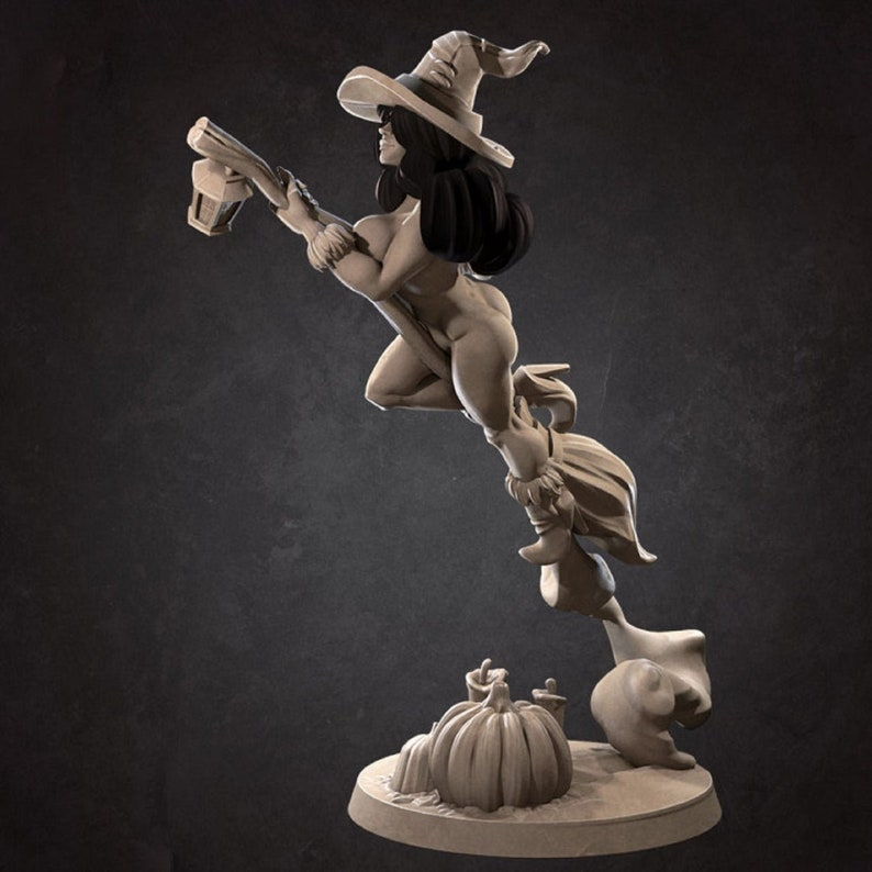 Unpainted Mini for TTRPGs SFW and NSFW Version D/&D, DnD, Dungeons and Dragons, Pathfinder, Frostgrave Dorotea the Pirate Witch