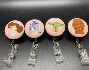 Swivel Clip Retractable Security Badge Holder Kawaii Princess Leia Star War Badge Reel Star Wars Lover