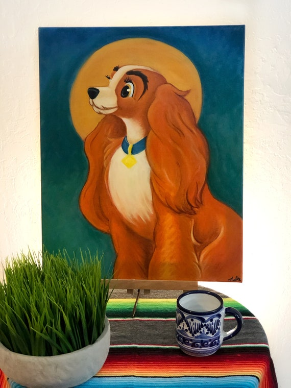 Lady And The Tramp Our Lady Oil Painting From Etsy
