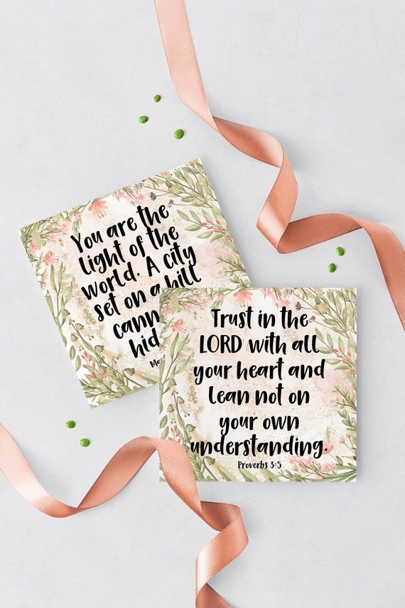 Scripture Advent Calendar Printable Makes 4x4 Cards
