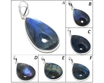 Superb Blue Flashy Labradorite Pendant ! AAA+++ Labradorite Handmade Polished Gemstone Pendant | February Birthstone | Meditation Pendant