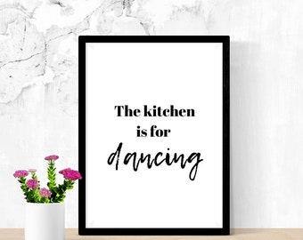 Just beat it this kitchen is for dancing Chop it 3 x  kitchen print set