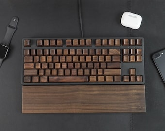 Wooden Keycap Solid Walnut\Natural Wood Keycaps Set OEM for MX Switches Mechanical Keyboard