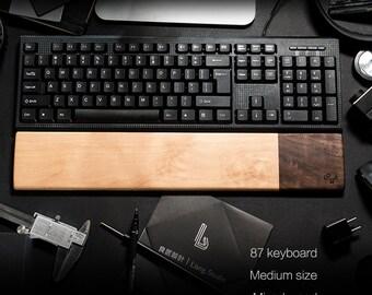 c5bdb828cda Wrist Rest Pad Keyboard Support Cushion Natural Wood Black Walnut Double  Color Matching