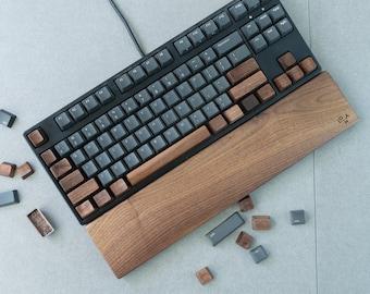 Wooden Keycap Solid Walnut\Natural Wood Keycap Spacebar Esc Arrow WASD QWER Keys for Mechanical Keyboard