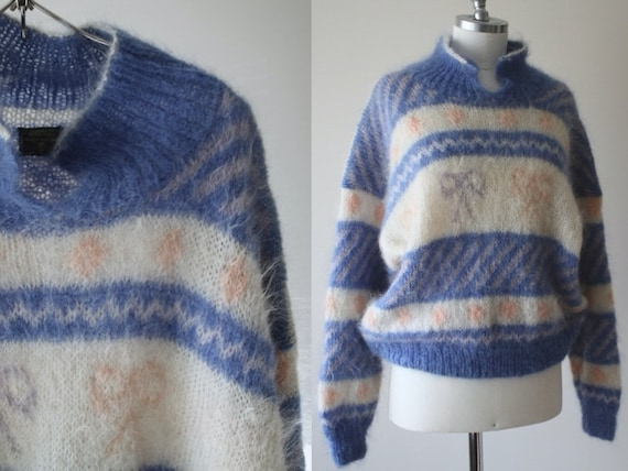 Amazing vintage 80's soft wool knit sweater // han