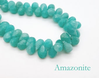 Amazonite drops 4558550036476 12x8mm stone beads 4pc