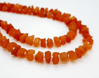 Orange Carnelian Beads Carnelian Gemstone, Carnelian Tumbled Smooth Beads Carnelian Graduating Polished Free Form Nugget Beads 16 In