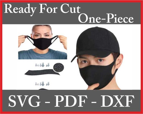 Face Mask Svg Dxf 2 Models Pattern Washable Reusable Face Mask Etsy