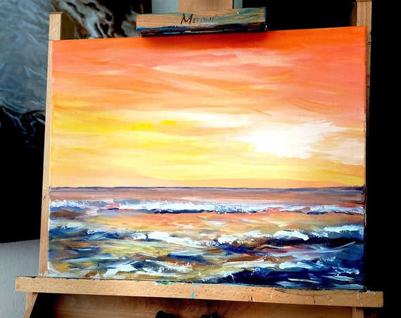 After Sunset - Canvas Print of my original acrylic painting.
