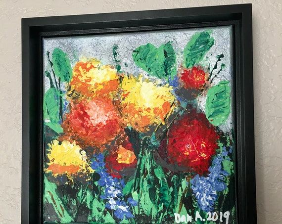 The Secret Garden #2 - Authentic, original acrylic painting by Dan Abrahamsson Art