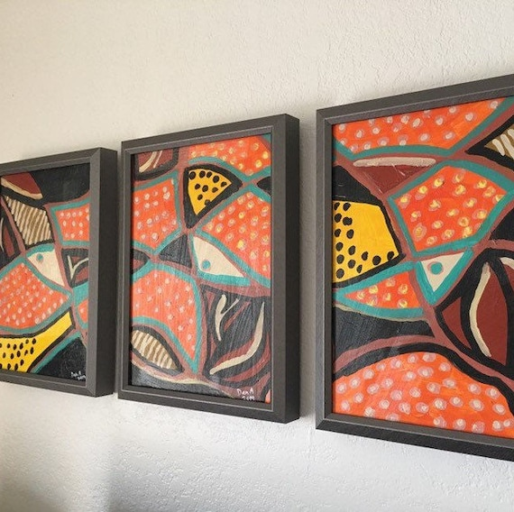 TRILOGY — Ethno inspired, original painting available directly by the artist Dan Abrahamsson. Contemporary Impressionist & Abstract Art