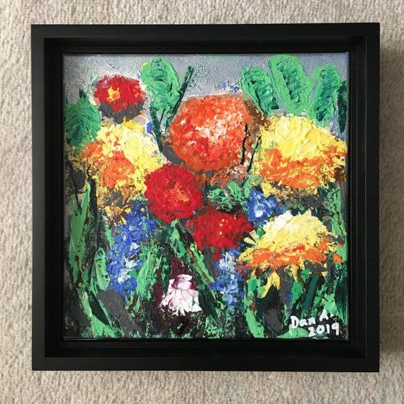 The Secret Garden #1 - Authentic, original acrylic painting by Dan Abrahamsson Art