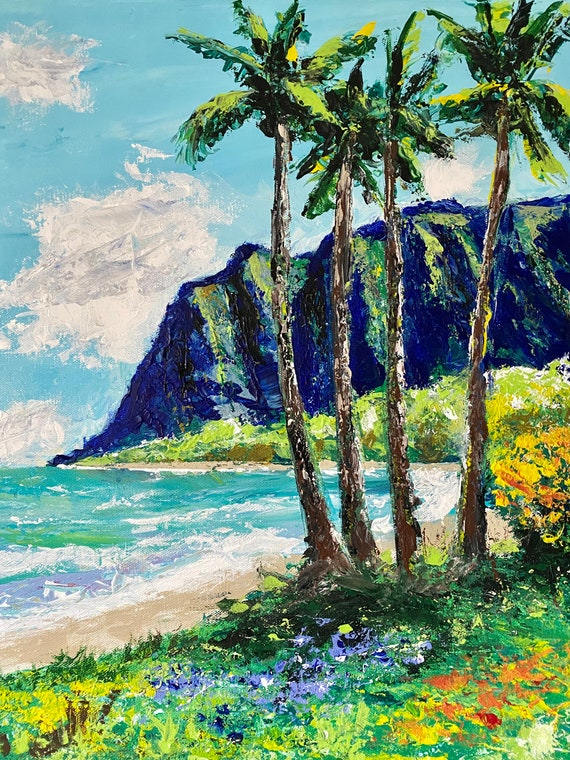 ALOHA HAWAII — authentic, original painting available directly from the artist Dan Abrahamsson. Contemporary Impressionist & Abstract Art