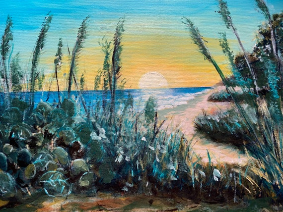 Sea oats in sunset