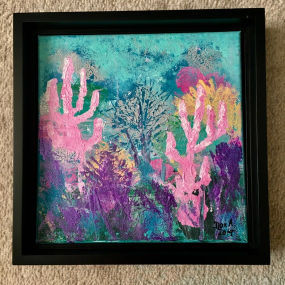 Coral Garden #2 - Authentic, original acrylic painting by Dan Abrahamsson Art