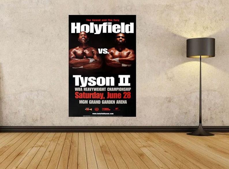 "Boxer Boxing champion Mike Tyson Wall Sport Poster Decor 18x12 36x24 40x27/"""