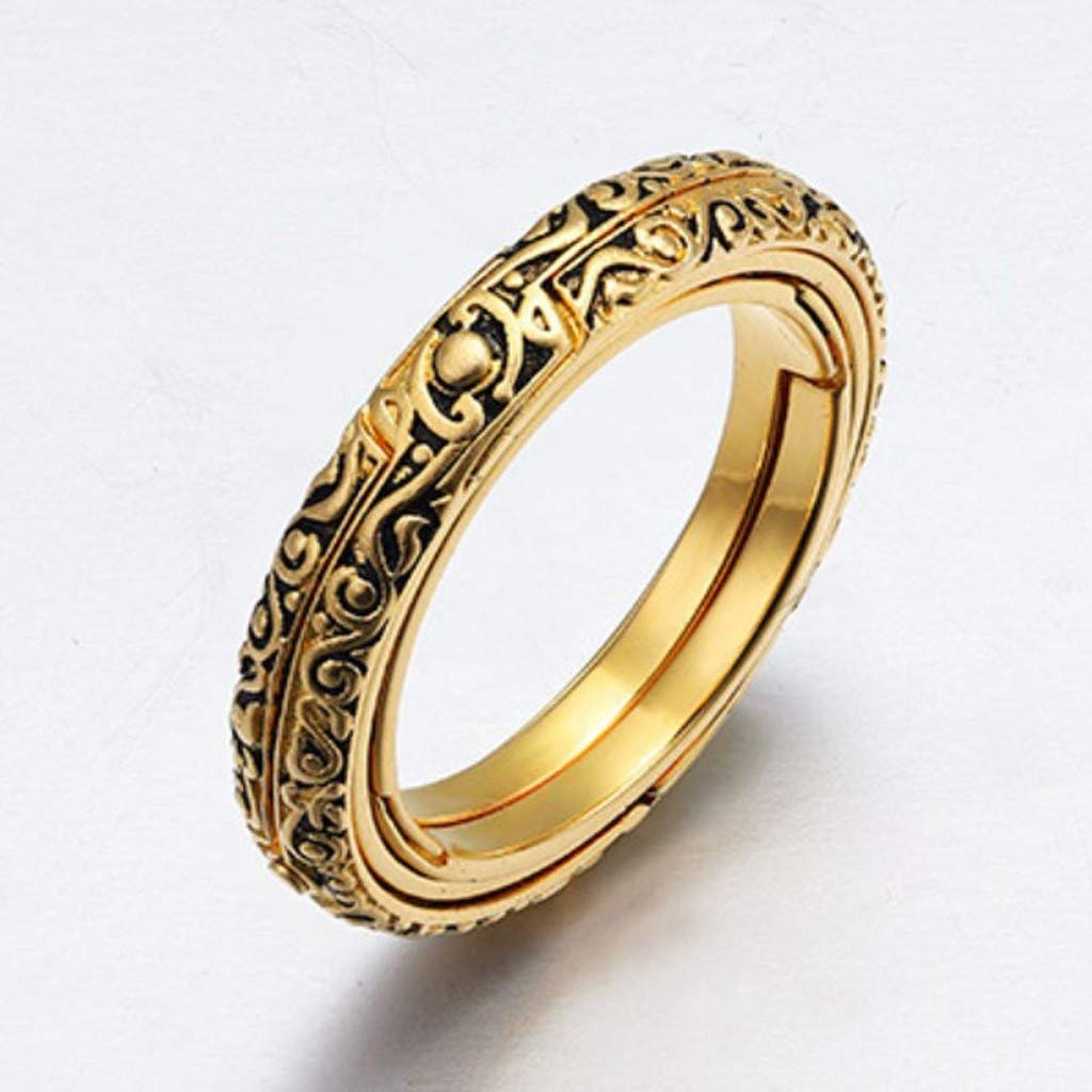 Saturn\u2019s Dream Opal Vertical Point Ring Set 18K Gold Vermeil Vintage Inspired Celestial Jewelry Alternative Engagement Ring Set
