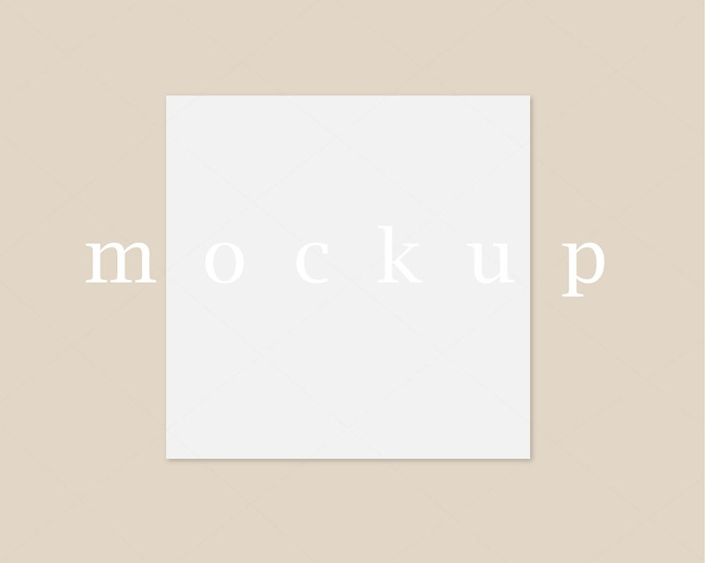 Square Card Mockup Nude BackgroundNursery MockupWedding Baby Shower Mockup Simple Minimalist Stationary MockupJPG PNGM95