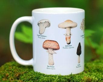 Mushroom Mug - Edible Species Mushroom Cottage Core Decor