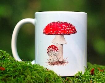 Mushroom Mug - Amanita muscaria
