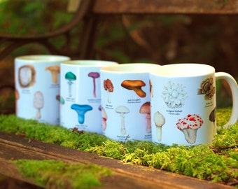 Mushroom Mugs - Gift Set of Four