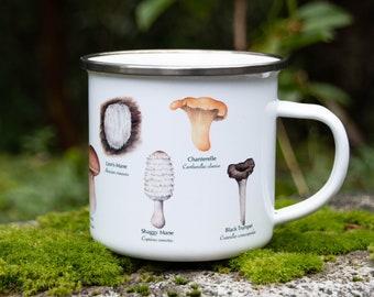 Edible Mushrooms Enamel Camping Mug