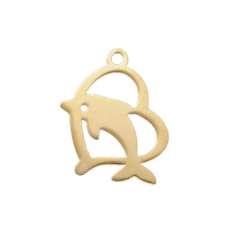 520pcs Stainless Steel Lovely heart Dolphin Whale Animal Charms silver charm Nautical Beach Pendant Jewelry Making  18X14MM