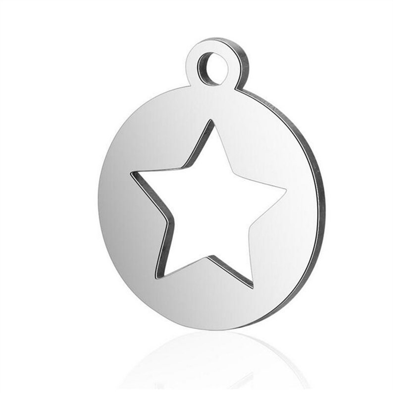 1020pcs Stainless Steel Hollow Star Cut Out Silver Color Pendants Making DIY Handmade Tibetan Finding Jewelry 12X14MM