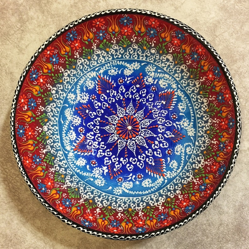 10 Grand Bol à salade en céramique turque, Bol de service en céramique fait main, Bol en céramique, Bol turc, Grand Bol aux fruits, Grand Bol, Bol à tapas