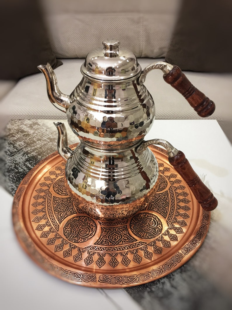 Turkish Copper Teapot Vintage Style Copper Tea Kettle Handmade Copper Kettle Copper Herbal Teapot Copper Coffee Pot
