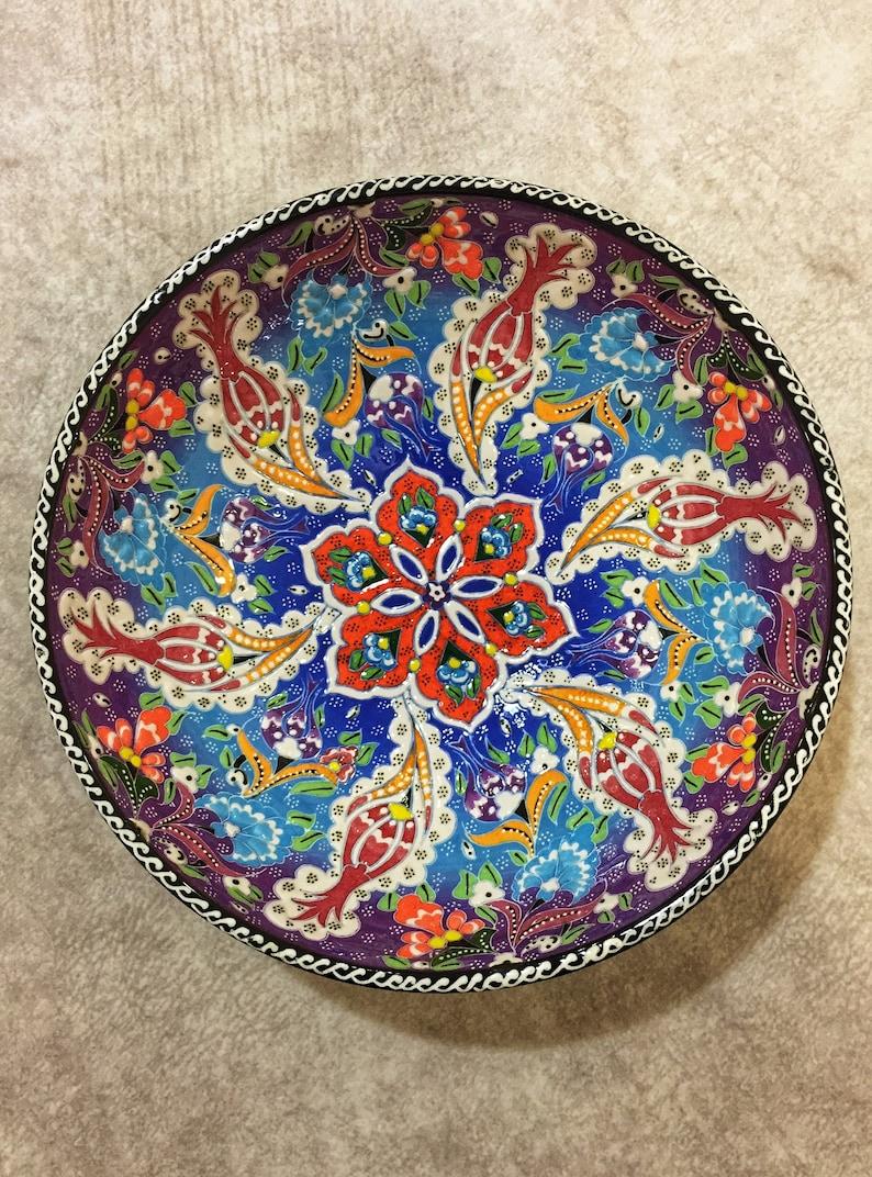 10 Décorative Bol en céramique turque, Grand bol coloré, Salad Bowl en céramique, Salad Serving Bowl, Turkish Bowl, Tapas Bowl, Handmade Bowl