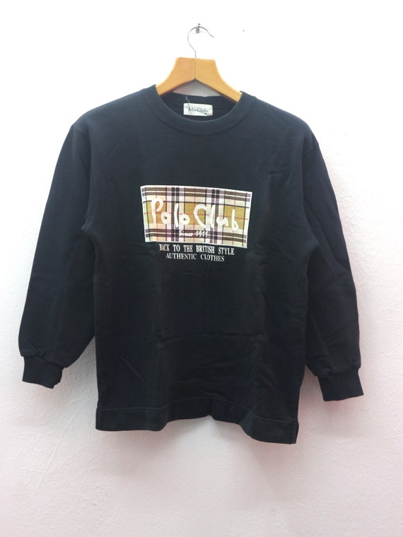 Vintage POLO CLUB Casual Street Wear Jumper Sweats