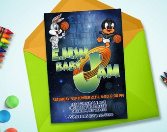 Space jam party supplies | Etsy