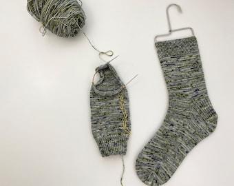 "Vanilla Socks on 9"" Circulars PDF Pattern by Crazy Sock Lady Designs"