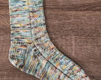 The Shallow Sock Knitting Pattern by Crazy Sock Lady Designs, PDF Pattern