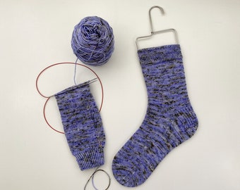 Vanilla Socks on Magic Loop PDF Pattern by Crazy Sock Lady Designs