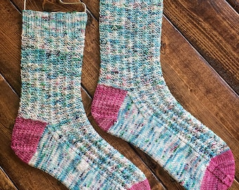 Rhinebeck Roomies Sock Knitting Pattern by Crazy Sock Lady Designs, PDF Pattern