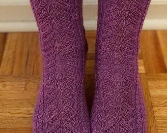 Gypsy Soul Sock Knitting Pattern by Crazy Sock Lady Designs, PDF Pattern