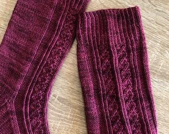 Wild Heart Sock Knitting Pattern by Crazy Sock Lady Designs, PDF Pattern