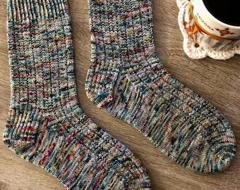 Morning Coffee Sock Knitting Pattern by Crazy Sock Lady Designs, PDF Pattern