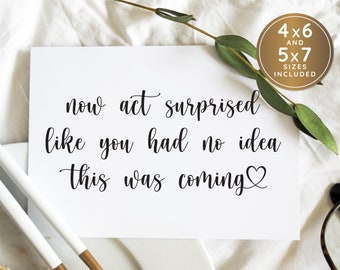 Bridesmaid Card Scratch Off Bridesmaid Proposal Now act surprised like you had no idea this was coming Funny Bridesmaid SET OF 4 or more