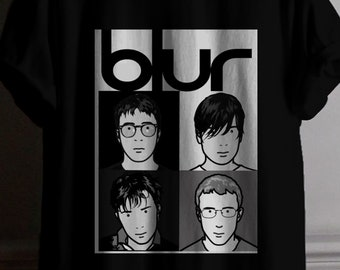 New Blur Band Think Tank Album Cover Logo Men/'s Black T-Shirt Size S to 3XL