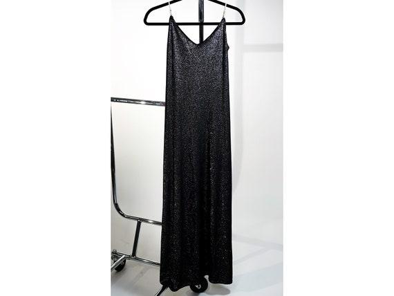 1970's Vintage Shimmering Velour Maxi Dress - S