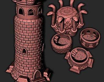 Temple snake cult desert sand building scenery terrain  | Medieval fantasy | wargame Scenery | | 28 - 32mm scale |   D&D | Pathfinder
