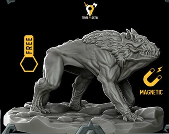 Hell Hound barghest miniature Dungeons and dragons, DnD , Age of Sigmar, W40k, 9th Age, kow, mordheim | RPG tabletop miniature