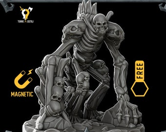 Bone golem miniature Dungeons and dragons, DnD , Age of Sigmar, W40k, 9th Age, kow, mordheim | RPG tabletop miniature
