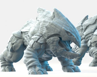 Bulette miniature land shark Dungeons and dragons, DnD , Age of Sigmar, W40k, 9th Age, kow, mordheim | RPG tabletop miniature