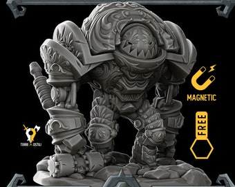 Clockwork brute miniature golem Dungeons and dragons, DnD , Age of Sigmar, W40k, 9th Age, kow, mordheim   RPG tabletop miniature
